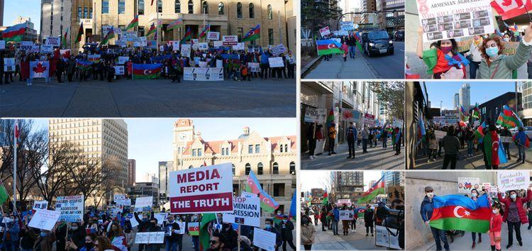 Solidarity rally of Azerbaijanis was held in Canada's Calgary City