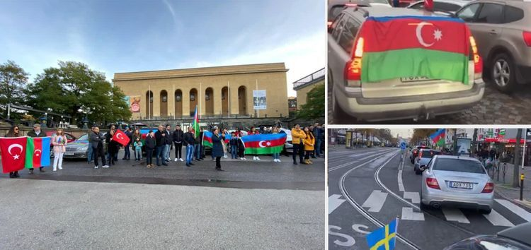 Auto-rally was held in Stockholm and Gothenburg in order to support Azerbaijan