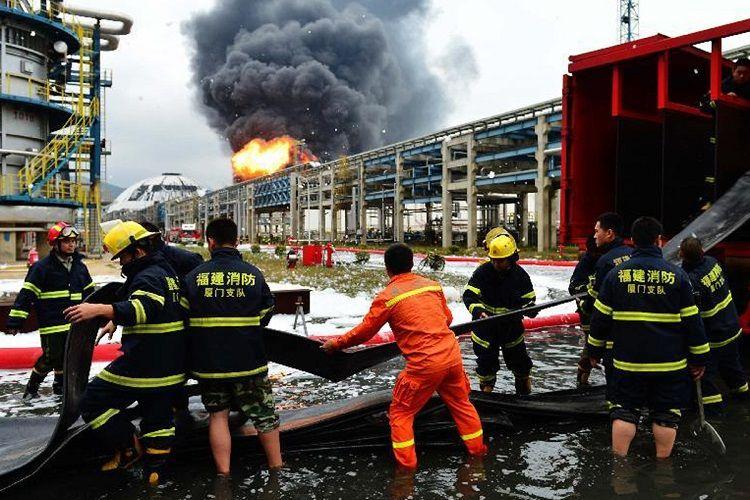 Çində qaz emalı zavodunda baş vermiş yanğında 5 nəfər ölüb