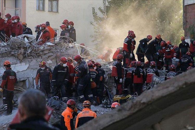 Death toll from Izmir quake rises to 110, 144 people receiving treatment, says Turkish President Erdogan