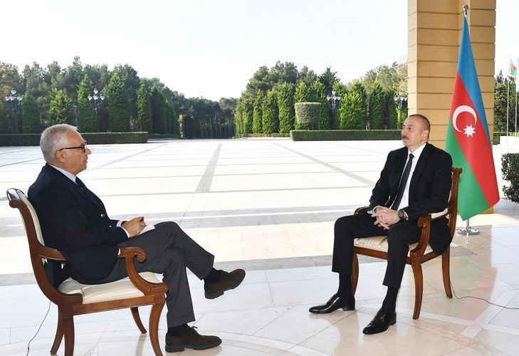 """President Ilham Aliyev: """"What were we supposed to do? Sit and wait when they are killing us? """""""