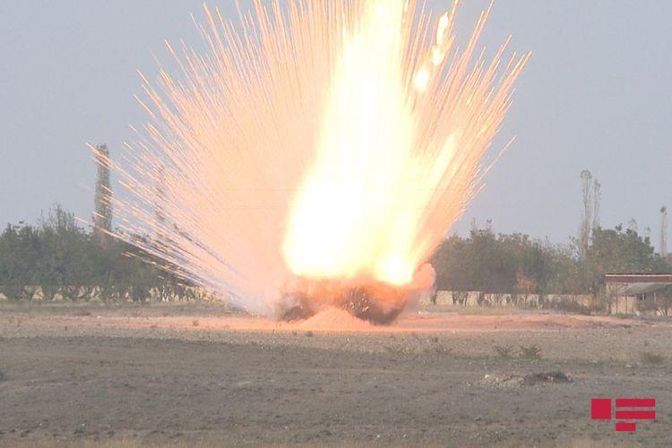 В селе Сахлабад Тертерского района обезврежен выпущенный армянами фосфорный снаряд - ФОТО - ОБНОВЛЕНО