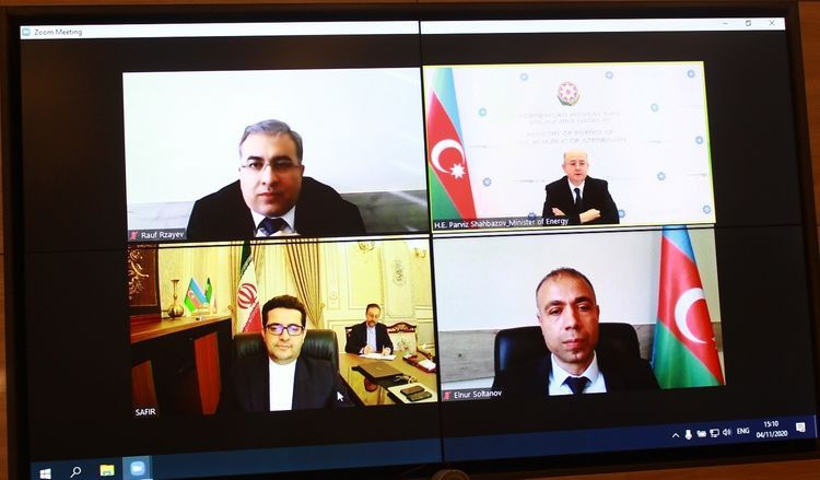 Cooperation between Azerbaijan and Iran in the area of energy was discussed