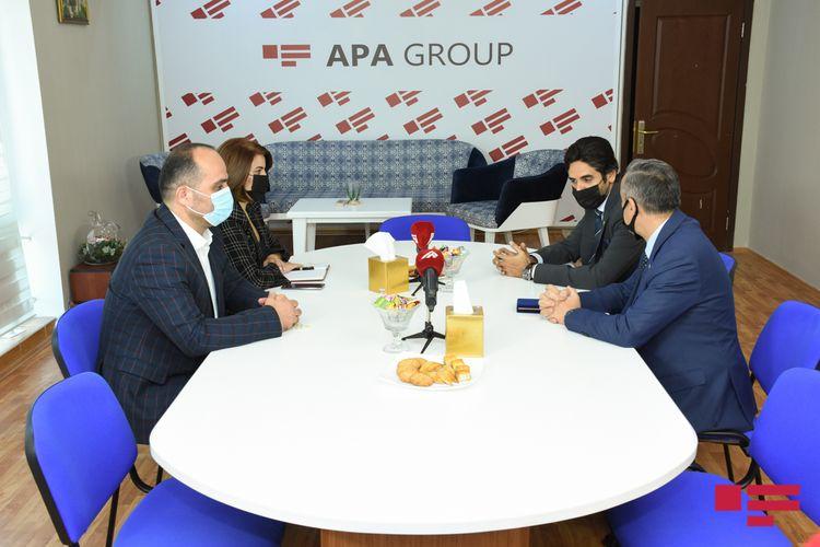 """Qətərin Azərbaycandakı səfiri """"APA Group""""da olub"""