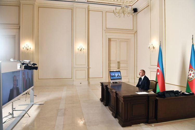 """Prezident İlham Əliyev: """"Azərbaycan, demək olar ki, 30 il işğal altında olan ərazisinin böyük hissəsini azad edib"""""""