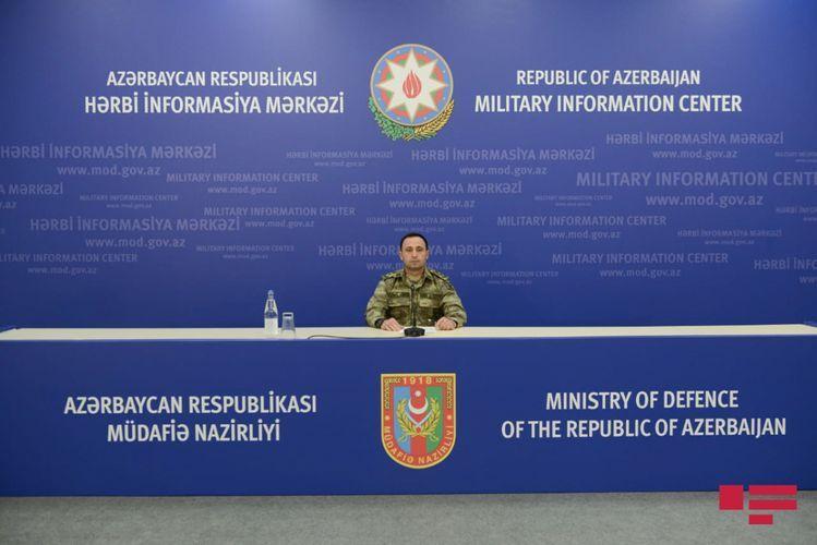 Минобороны: Армения беспомощна перед успешным наступлением азербайджанской армии и распространяет фейковую информацию