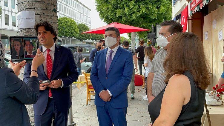 Azerbaijan's Consul General in Los Angeles and Azerbaijani community condemn hate crime against Turkish restaurant