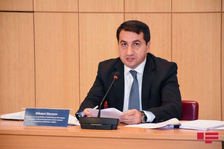 "Hikmet Hajiyev: ""Azerbaijan calls on UN member states to prevent use of their territories for financing Armenian terrorism"""
