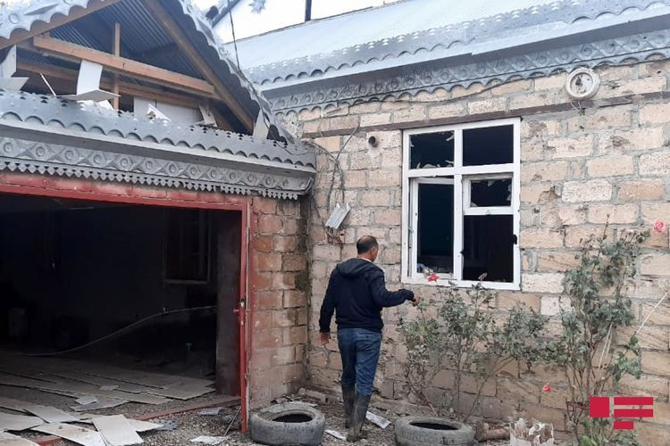 Projectile fired by Armenians fell on yard of residential house in Aghjabadi - PHOTO