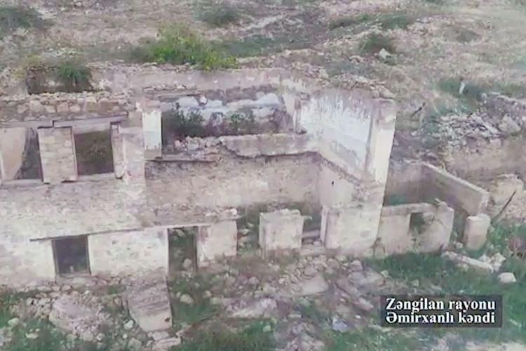 Azerbaijani cities and villages devasted by Armenians: Zangilan district, Amirkhanli village - VIDEO