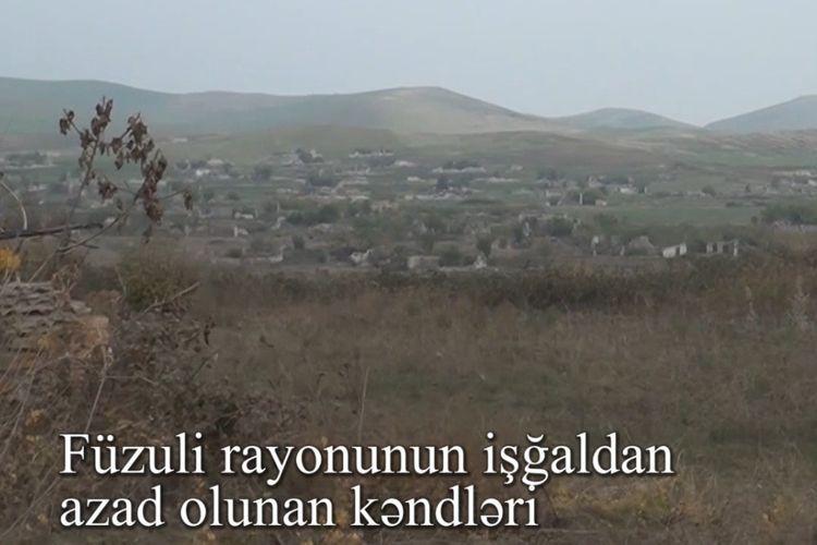 Видеокадры из освобожденных от оккупации сел Физулинского района - ВИДЕО