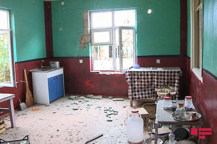Projectile shelled by Armenians on Agdam and Agjabedi caused destruction in residential houses - PHOTO