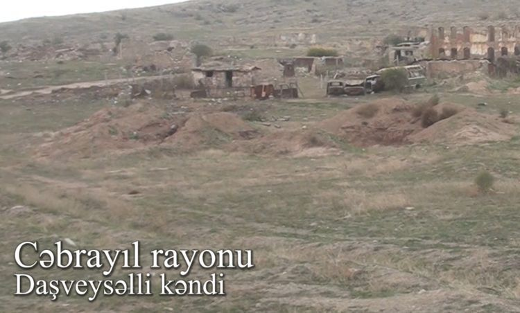 Video footage of liberated from the occupation villages of Jabrayil region