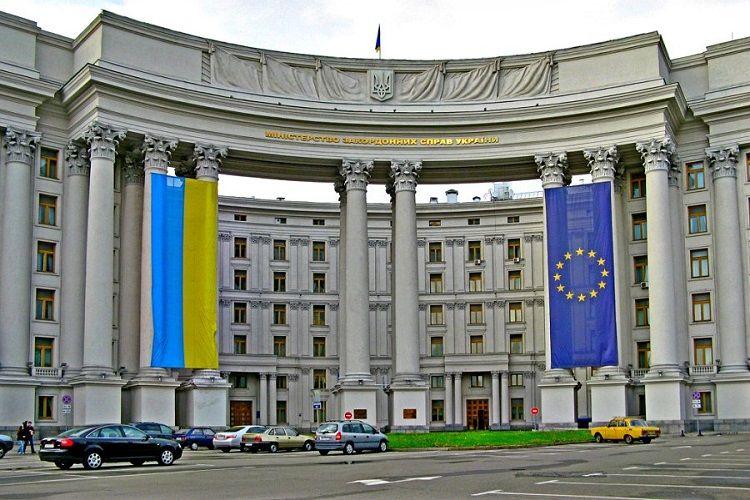 МИД Украины осудил обстрел помещения Почетного консульства Азербайджана в Харькове
