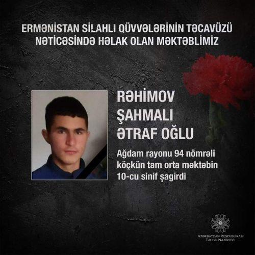 В Азербайджане еще один школьник стал жертвой армянской агрессии - ФОТО