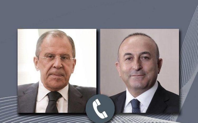 Чавушоглу и Лавров обсудили ситуацию в Нагорном Карабахе