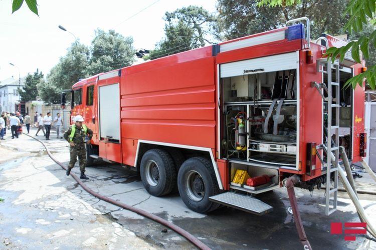 В Гёйчае произошел пожар в 18-квартирном жилом доме