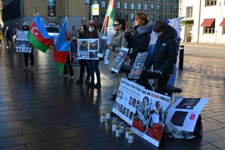 Helsinkidə erməni terroruna etiraz edilib