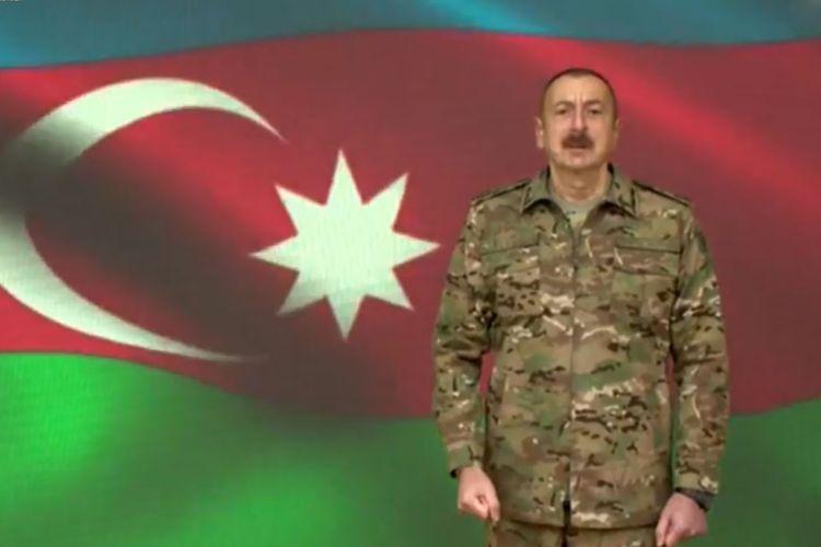"""Prezident İlham Əliyev: """"İşğalçıları torpaqlarımızdan qovuruq və qovacağıq"""""""