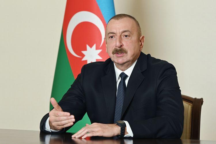 """Azərbaycan Prezidenti: """"Hər bir ölkənin özünümüdafiə hüququ var, bu hüququ bizə BMT Nizamnaməsi verir"""""""