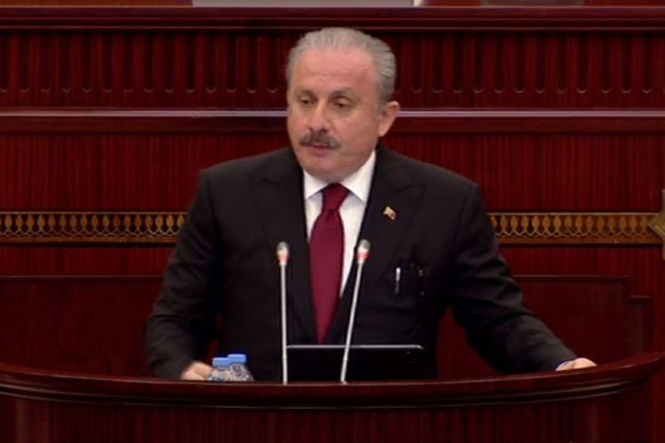 """TBMM sədri: """"Şuşa Azərbaycandır. Mübarək olsun"""""""