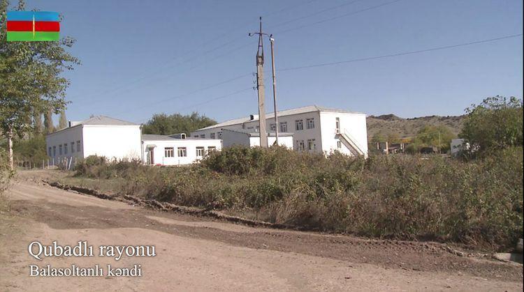 Видеокадры из освобожденного от оккупации села Баласолтанлы Губадлинского района