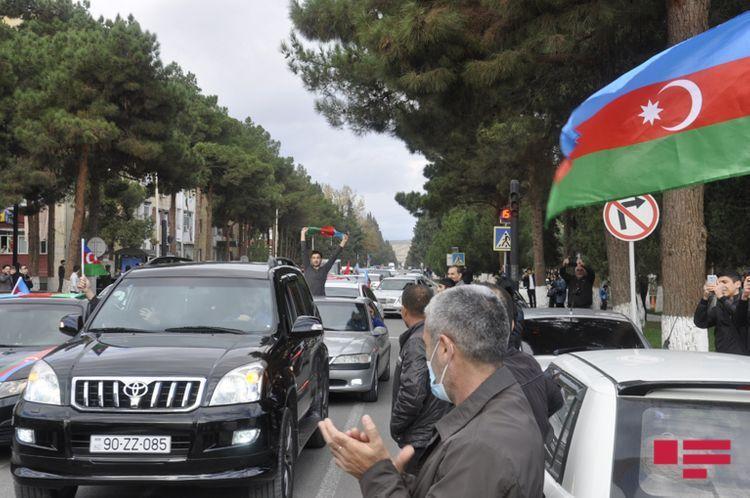 Весь Азербайджан с большой радостью воспринял новость об освобождении от оккупации города  Шуша - ВИДЕО