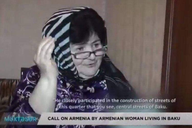 Call on Armenia by Armenian woman living in Baku - VIDEO