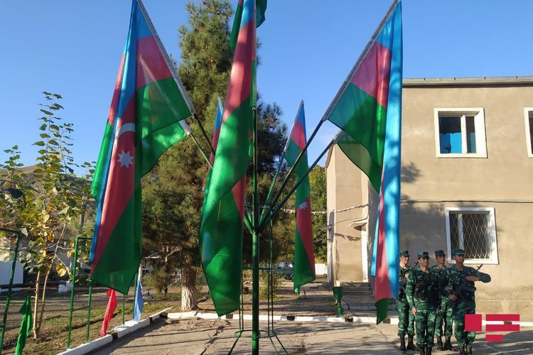 Azerbaijani flag raised over 5 border outposts in the territory of Zangilan liberated from occupation - PHOTOSESSION
