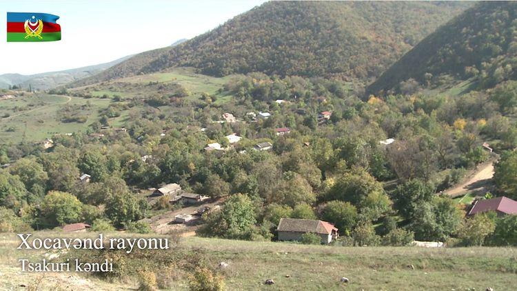Xocavənd rayonunun işğaldan azad olunan Tsakuri kəndinin görüntüsü - VİDEO