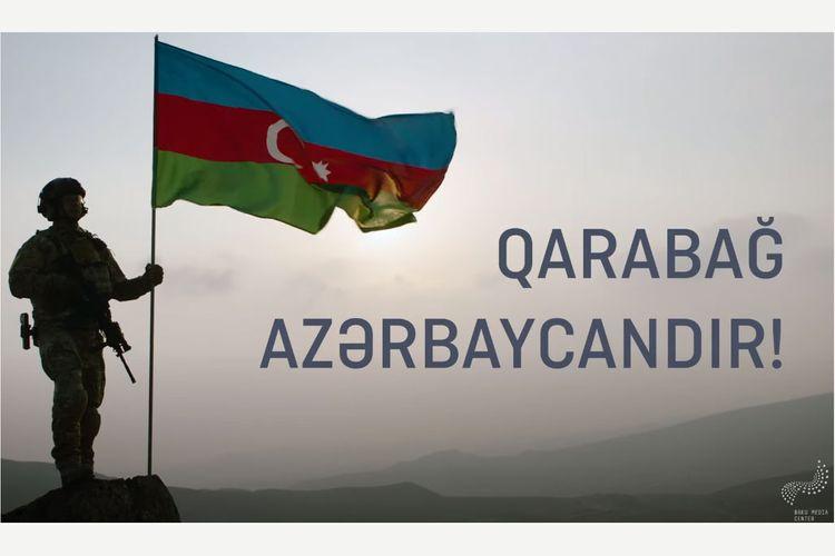 Bakı Media Mərkəzi Müzəffər Azərbaycan Ordusuna həsr olunmuş videoçarx hazırlayıb
