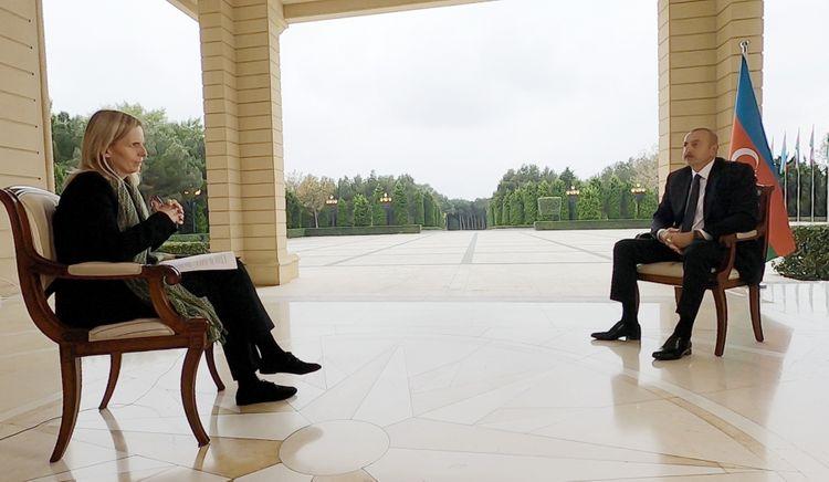 """Azərbaycan Prezidenti: """"Hazırda Dağlıq Qarabağda yaşayan mülki şəxslər tam əmin ola bilərlər ki, biz onların qayğısına qalacağıq"""""""