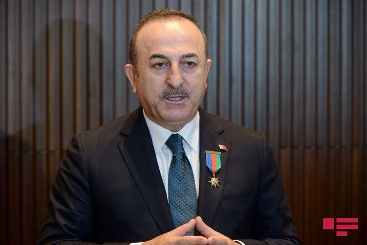 "Çavuşoğlu: ""We are taking diplomatic steps protecting Azerbaijan's right regarding Nagorno Garabagh"""