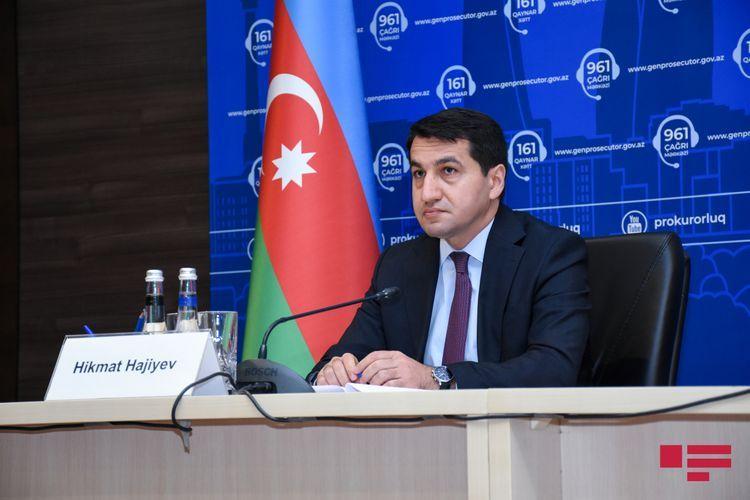 Hikmet Hajiyev condemns Member of Armenian National Assembly who called on war crime against Azerbaijan by hitting Mingachevir reservoir