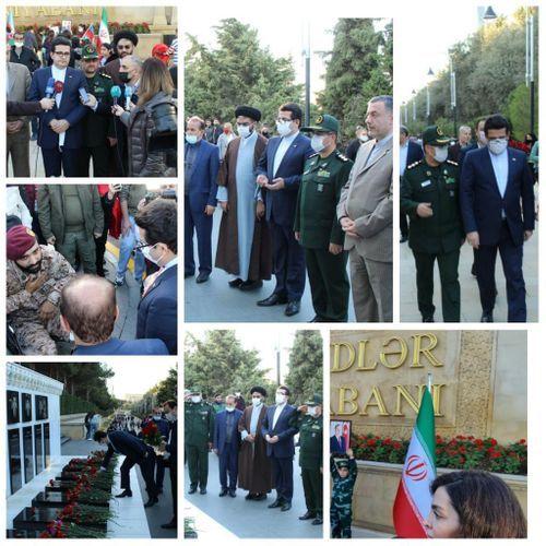 Посол Ирана посетил Аллею шехидов в Баку