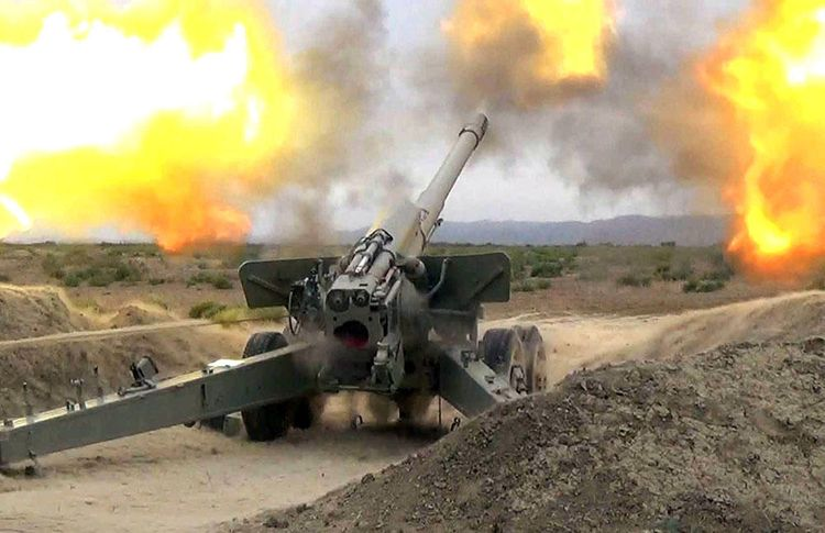 Müdafiə Nazirliyi: Düşmən Tərtər şəhərini artilleriya atəşinə tutub