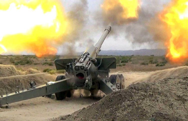 MoD: Enemy subjected to artillery fire the Terter city