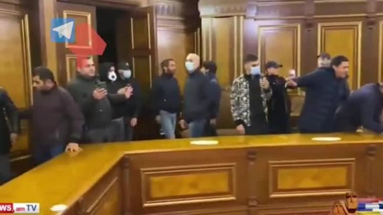 Armenian government building seized by protesters