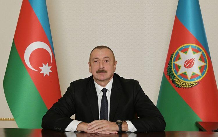 """Prezident İlham Əliyev: """"Paşinyan bu bəyanatı öz xoşu ilə imzalamır. Bunun - dəmir yumruğun hesabına imzalayır"""""""