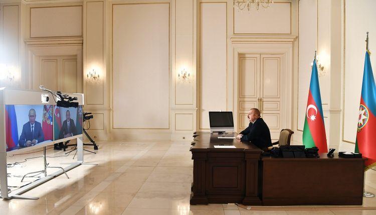 Президенты Азербайджана и России встретились в формате видеоконференции - ОБНОВЛЕНО