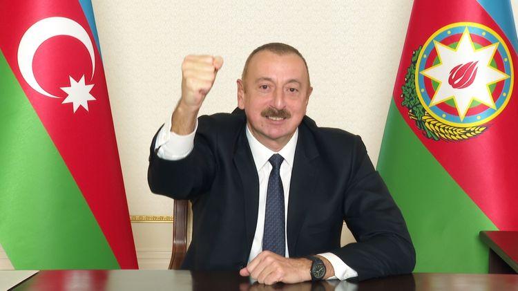 """Azərbaycan Prezidenti """"Qarabağ Azərbaycandır və nida"""" ifadəsi artıq bizim qələbəmizin rəmzinə çevrilib"""""""