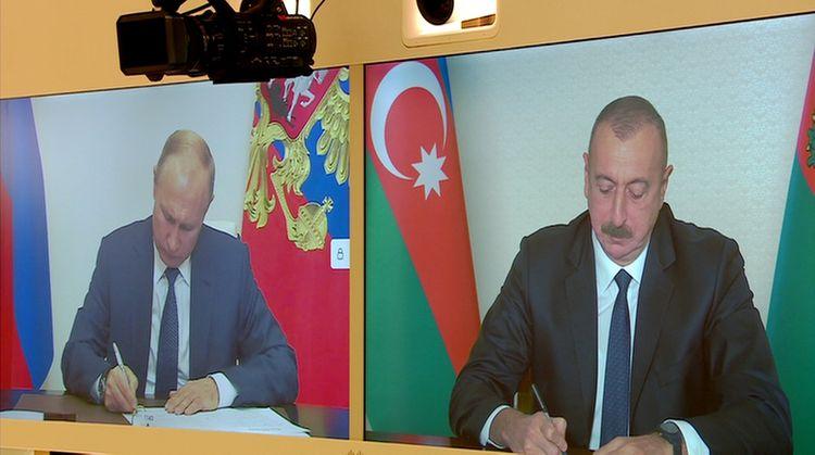 Azerbaijani President Ilham Aliyev, Russian President Vladimir Putin met in a videoconference format - UPDATED