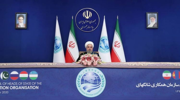 Rouhani noted they are happy that diplomatic solution process between Azerbaijan and Armenia started