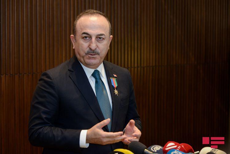 """Çavuşoğlu: """"Azərbaycan xalqı üzərinə raketlər atılmasına baxmayaraq, böyük dirəniş göstərdi"""""""
