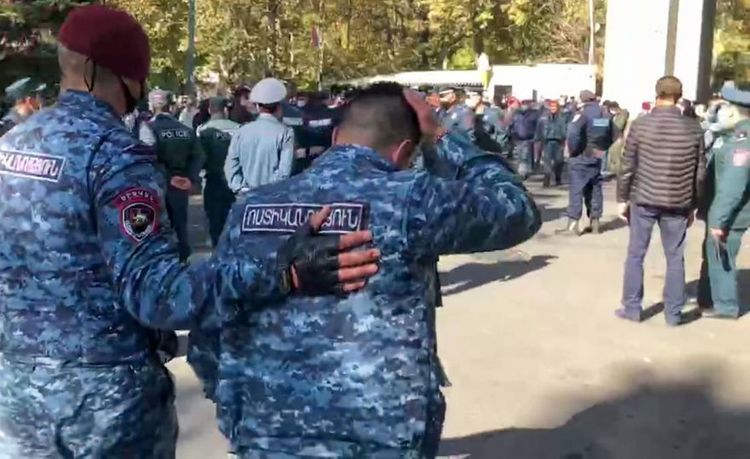 3 policemen injured, as situation escalated in protest rally held in Yerevan