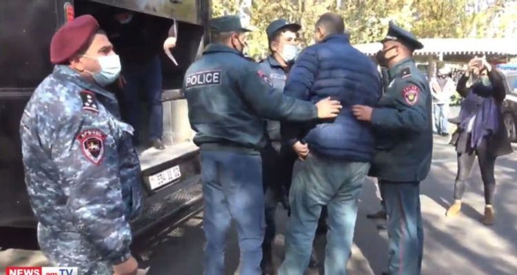 129 persons detained in the protest rally held in Armenia with requirement of Pashinyan