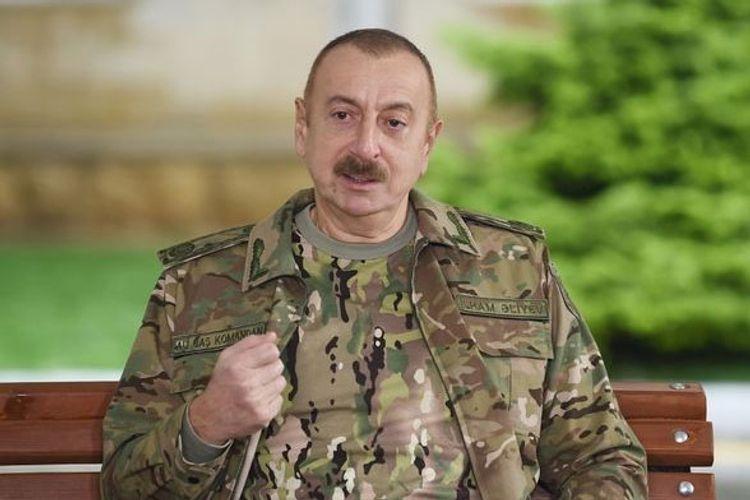 """Dövlət başçısı: """"Noyabrın 10-da imzalanmış birgə bəyanat faktiki olaraq Ermənistan sülh kapitulyasiya aktı idi"""""""