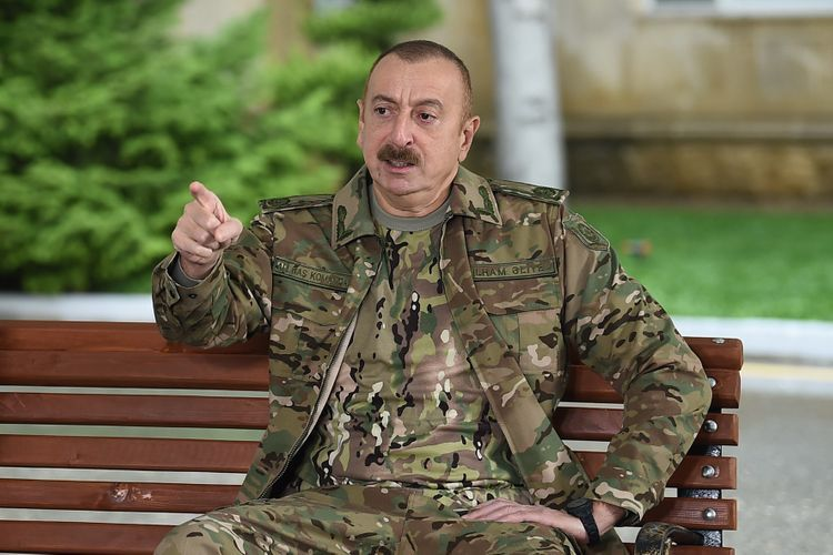 """Supreme Commander-in-Chief: """"The enemy's military equipment seized as trophy will be demonstrated in Baku"""""""