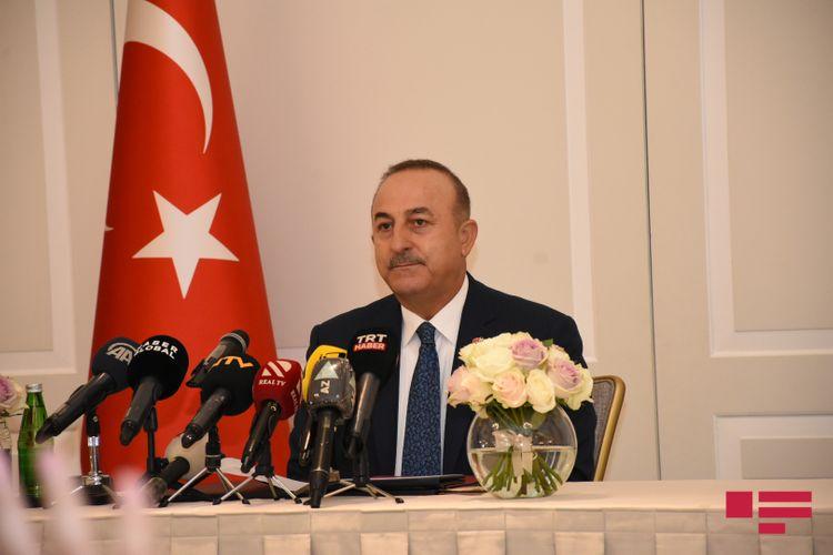 """Cavusoglu: """"Turkey will stand by Azerbaijan after now too"""""""