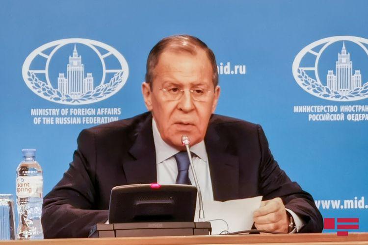 """Lavrov: """"Biz münaqişənin həmsədrlərin işləyib hazırladıqları prinsiplər əsasında çoxdan həll olunmasını istəyirdik"""""""